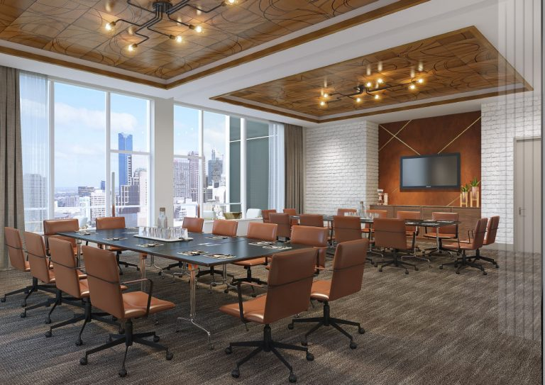 Large Conference Room At Arrivé Apartments in Seattle, WA