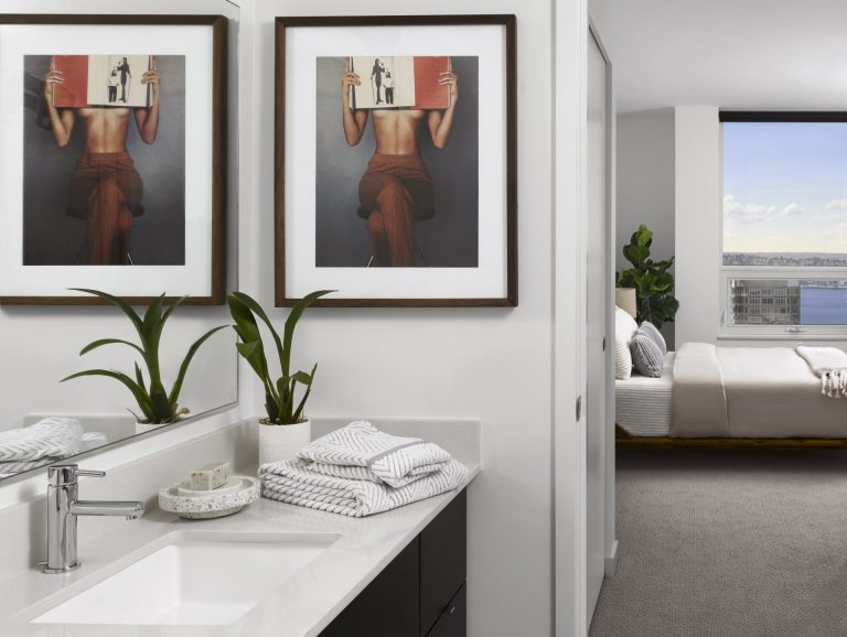 Modern Bedroom Layouts At Arrivé Apartments in Seattle, WA