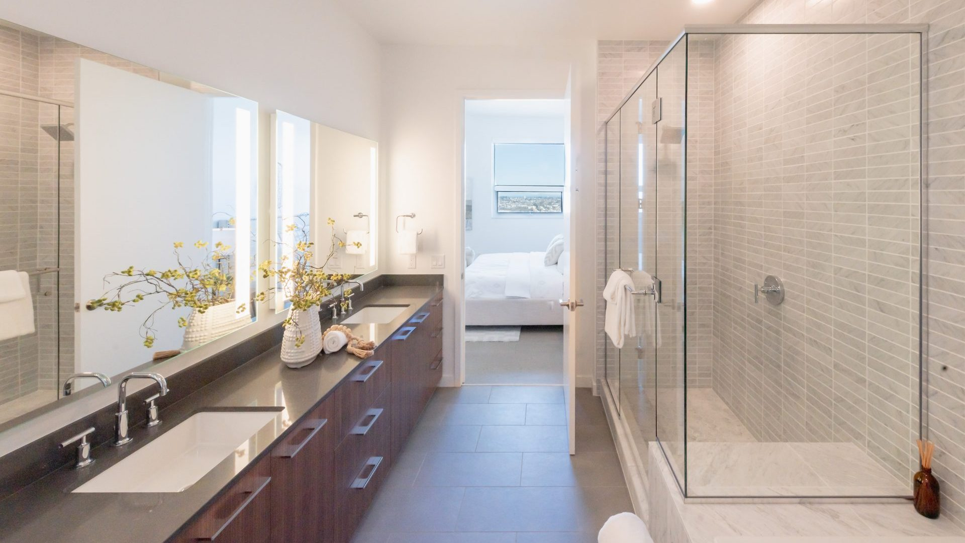 Spacious Bathroom Layouts At Arrivé Apartments in Seattle, WA