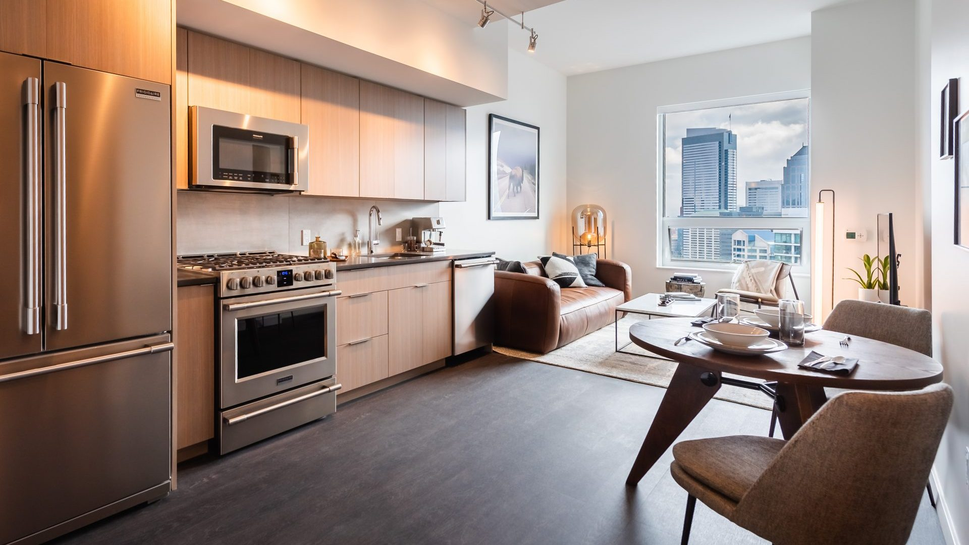 Open Concept Layouts At Arrivé Apartments in Seattle, WA