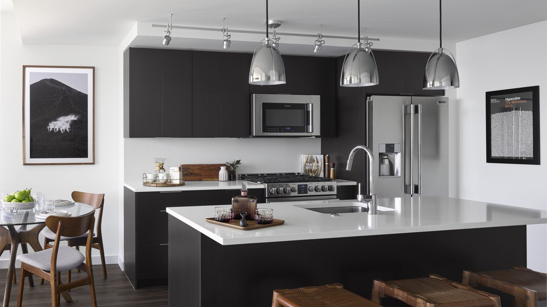 Modern Kitchens At Arrivé Apartments in Seattle, WA